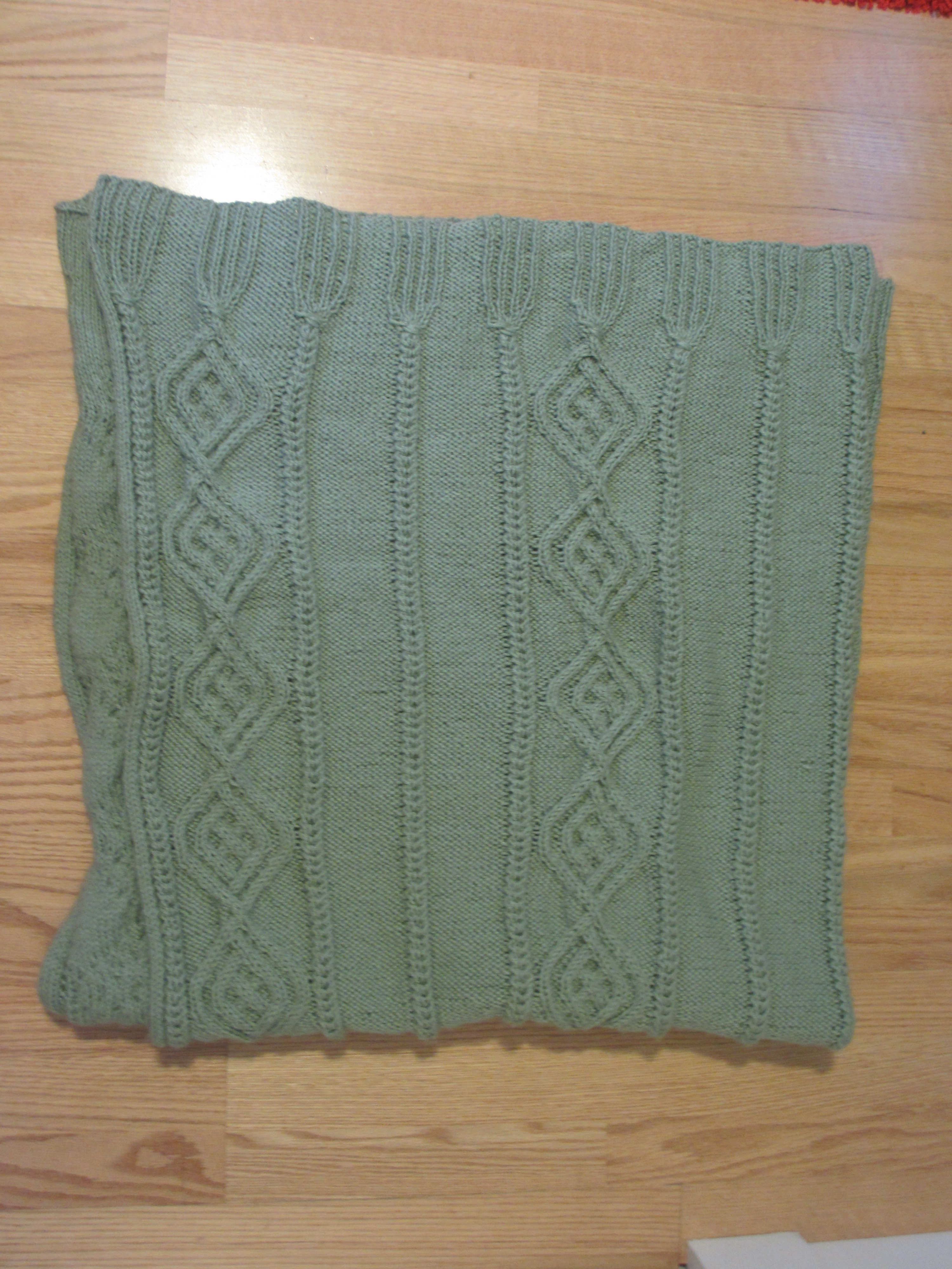 Pattern from Kitted Aran Afghans, by Melissa Leapman